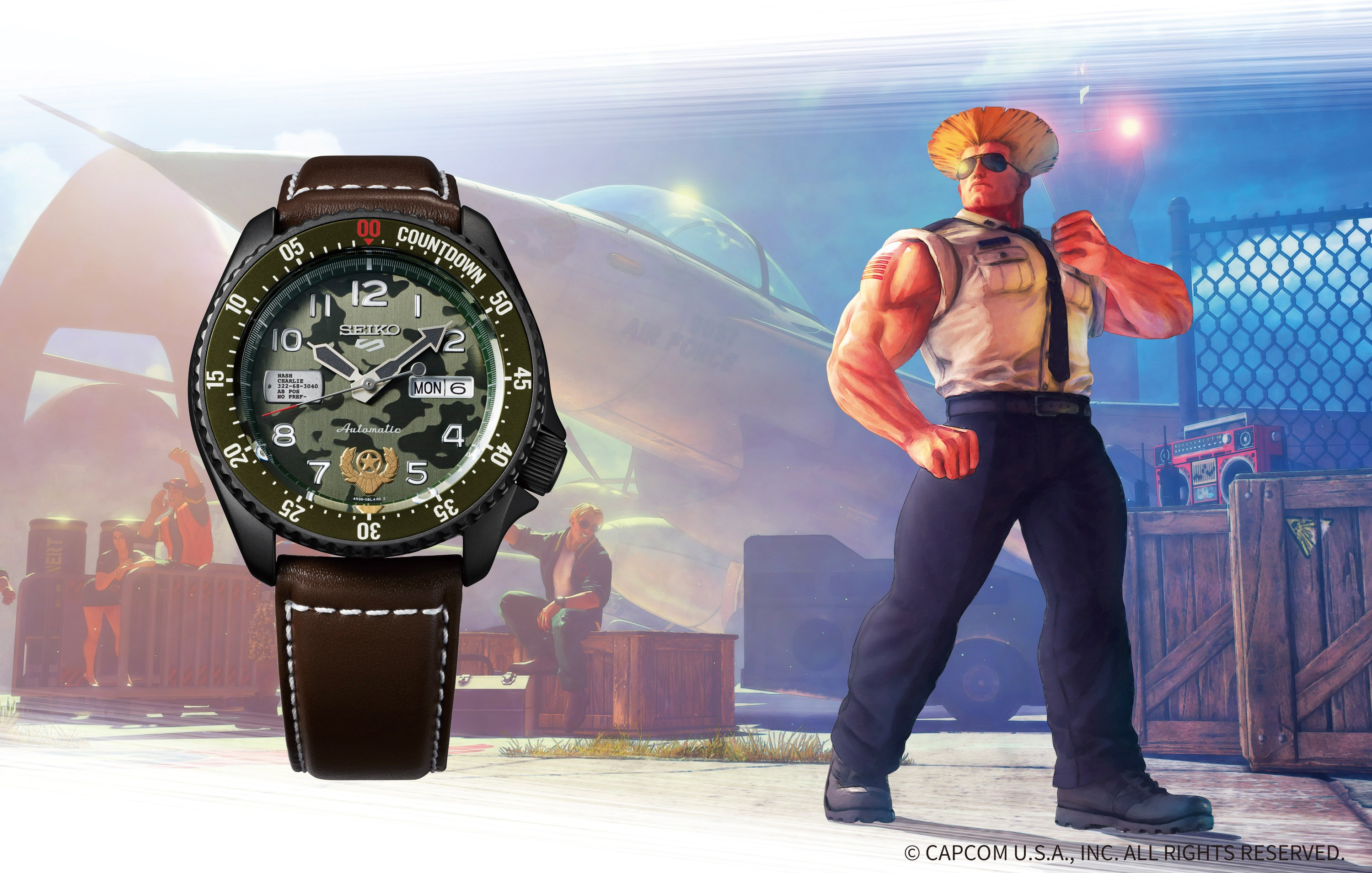 Seiko 5 Sports Street Fighter V Limited Edition GUILE - Indestructible Fortress SRPF21