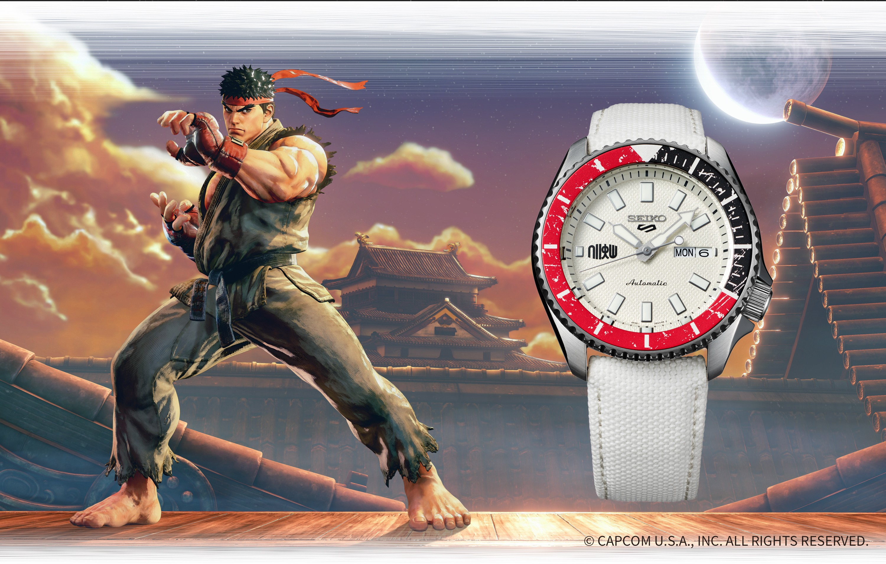 Seiko 5 Sports Street Fighter V Limited Edition RYU - Unshakable Fist SRPF19